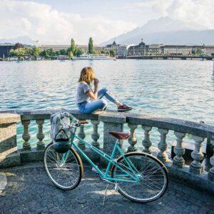 Lichtgrün Damenbike Velo