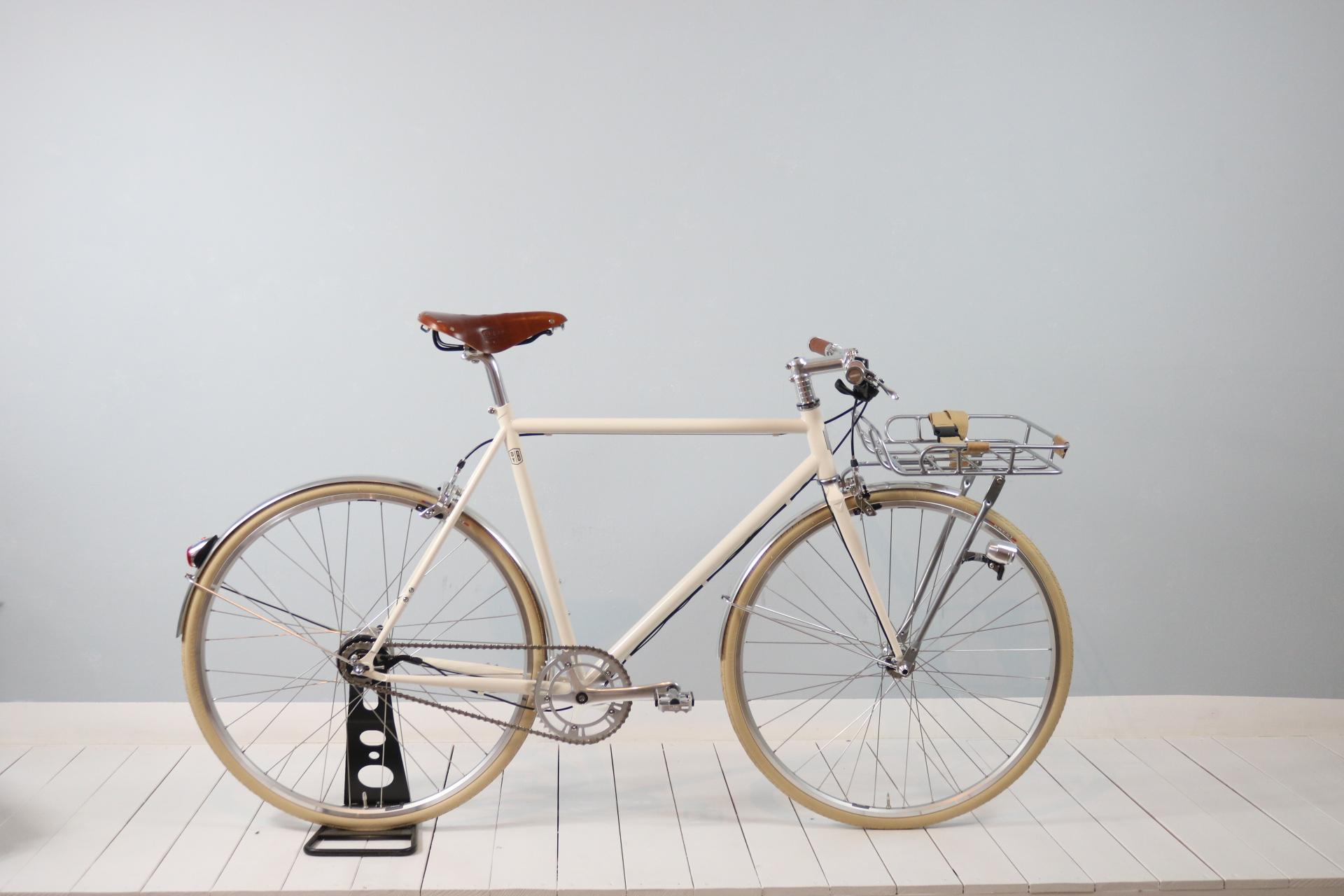 Bike Cremeweiss mit Frontkorb